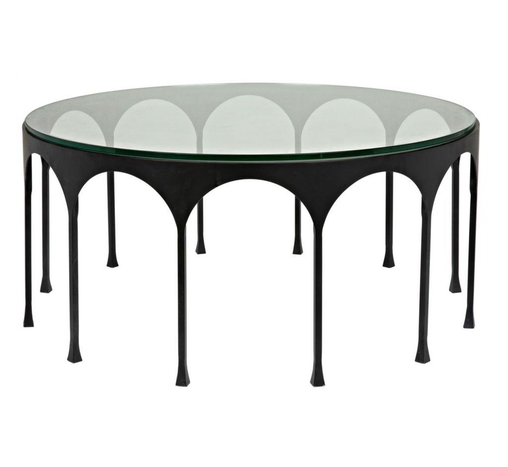 Achille Coffee Table,Black Metal