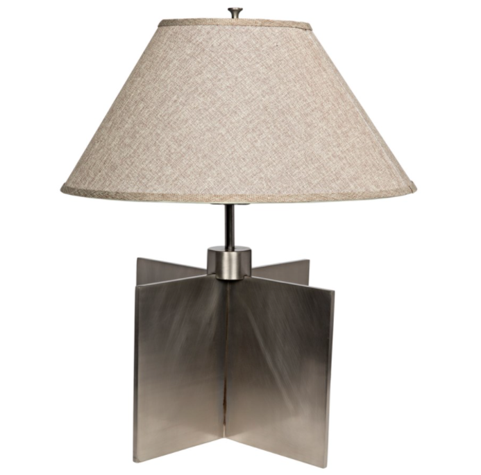 Architectural Lamp with Shade,Silver Finish