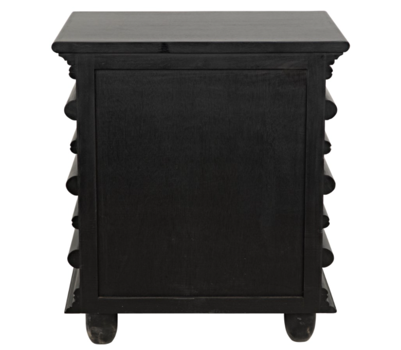 Ascona Side Table,Hand Rubbed Black