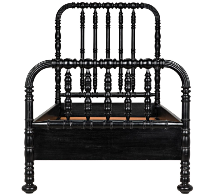 Bachelor Bed,Twin,Hand Rubbed Black