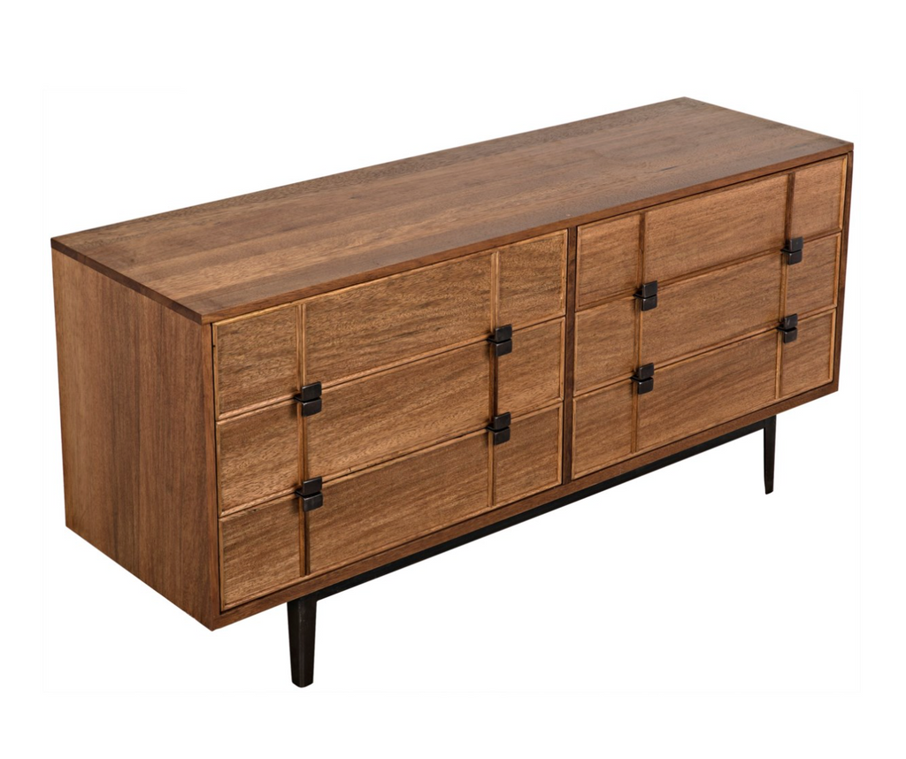 Bourgeois Sideboard,Walnut and Metal