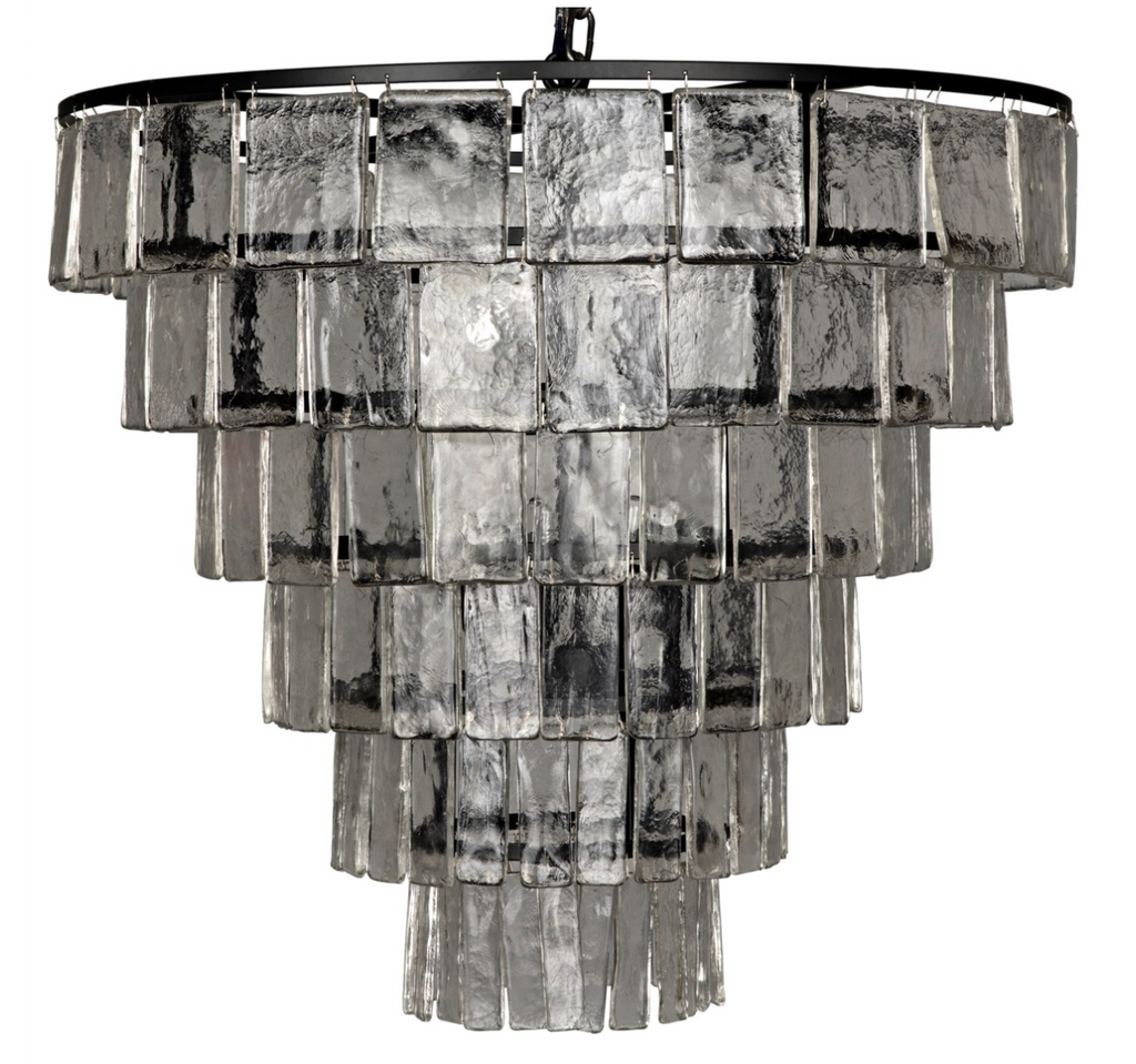 Carnegie Chandelier,Black Metal,Large