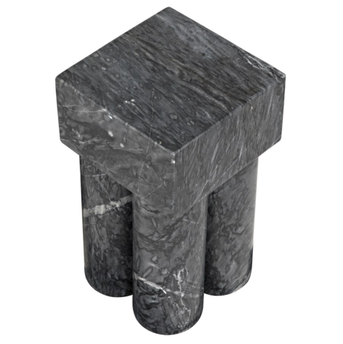 Cassidy Side Table,Black Stone