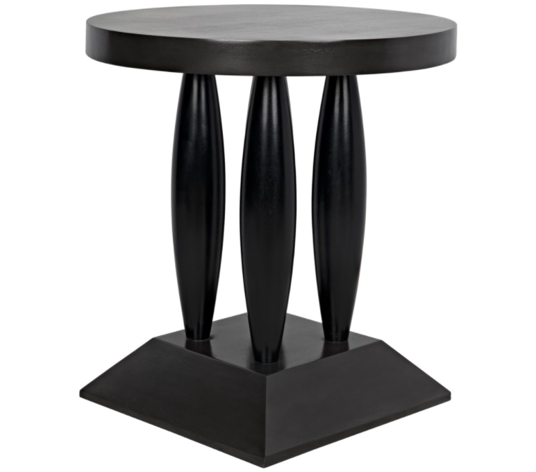 Chavelle Side Table,Pale/Hand Rubbed Black