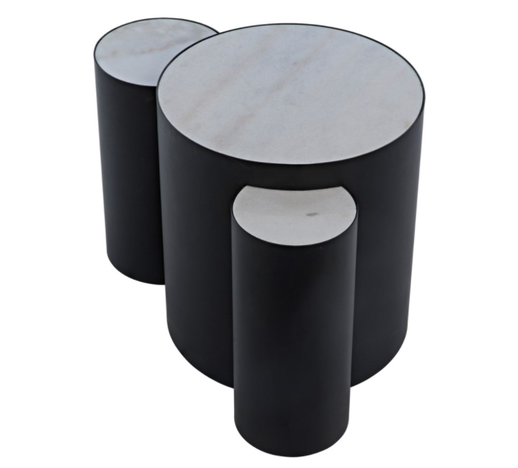 Coco Side Table,Black Metal