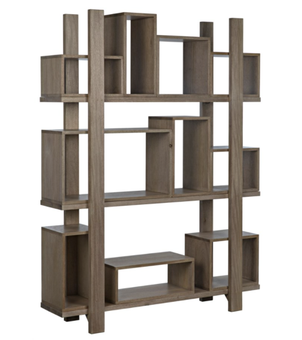 Corint Bookcase,Washed Walnut