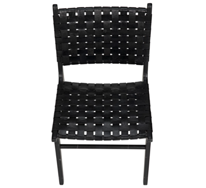 Dede Dining Chair,Leather,Black