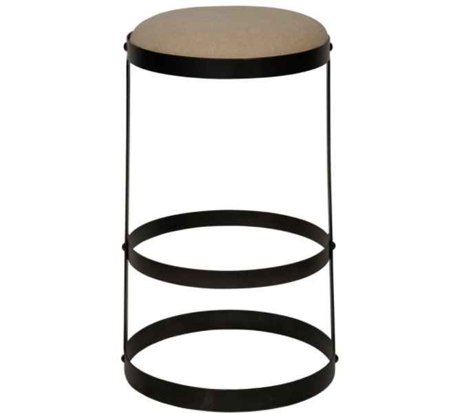 Dior Stool,Black Metal