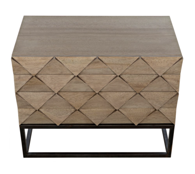 Draco Sideboard with Metal Stand,Washed Walnut