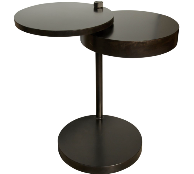 Ebba Side Table Black Metal