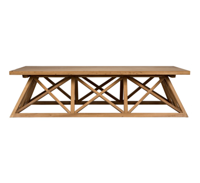 Gable Coffee Table,Golden Teak