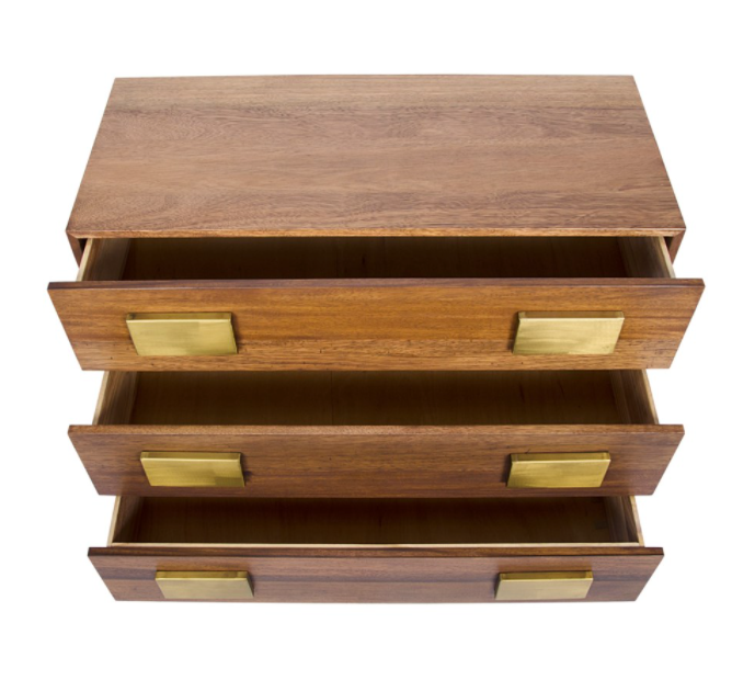 Gold Plate Chest,Dark Walnut