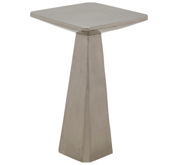 Laura Side Table,Antique Silver