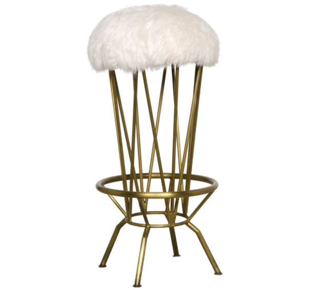 Marsha Barstool,Metal with Brass Finish