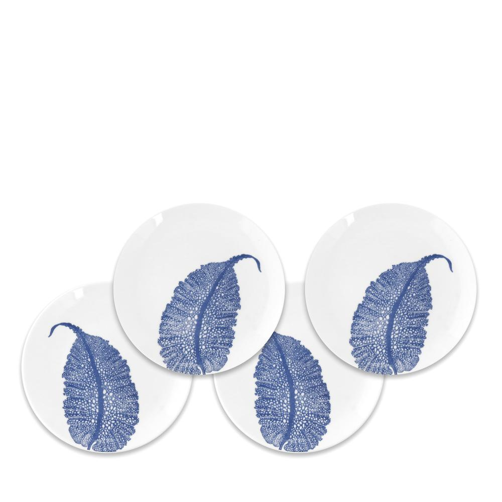 SEA FAN BLUE CANAPÉS SET OF 4
