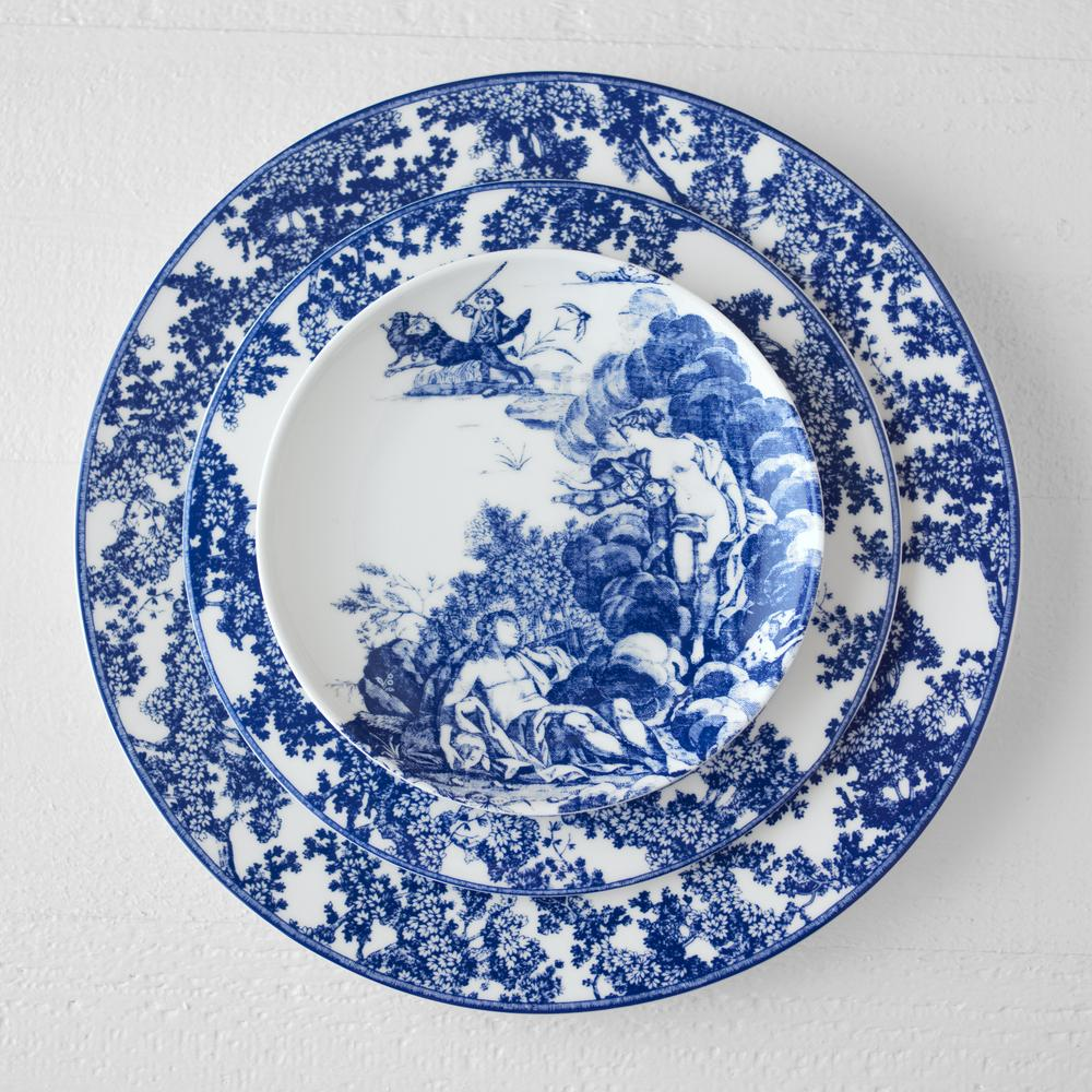WILLIAMSBURG COLLECTION - TOILE TALES SALAD PLATE