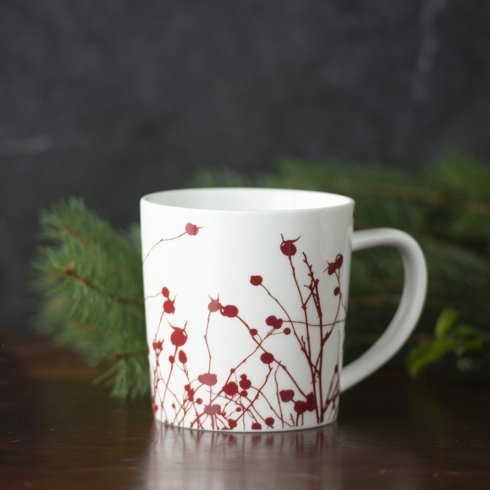 WINTERBERRIES RED 14 OZ. MUG