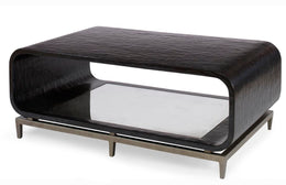 Wilhelm Coffee Table, Aged Graphite Gesso