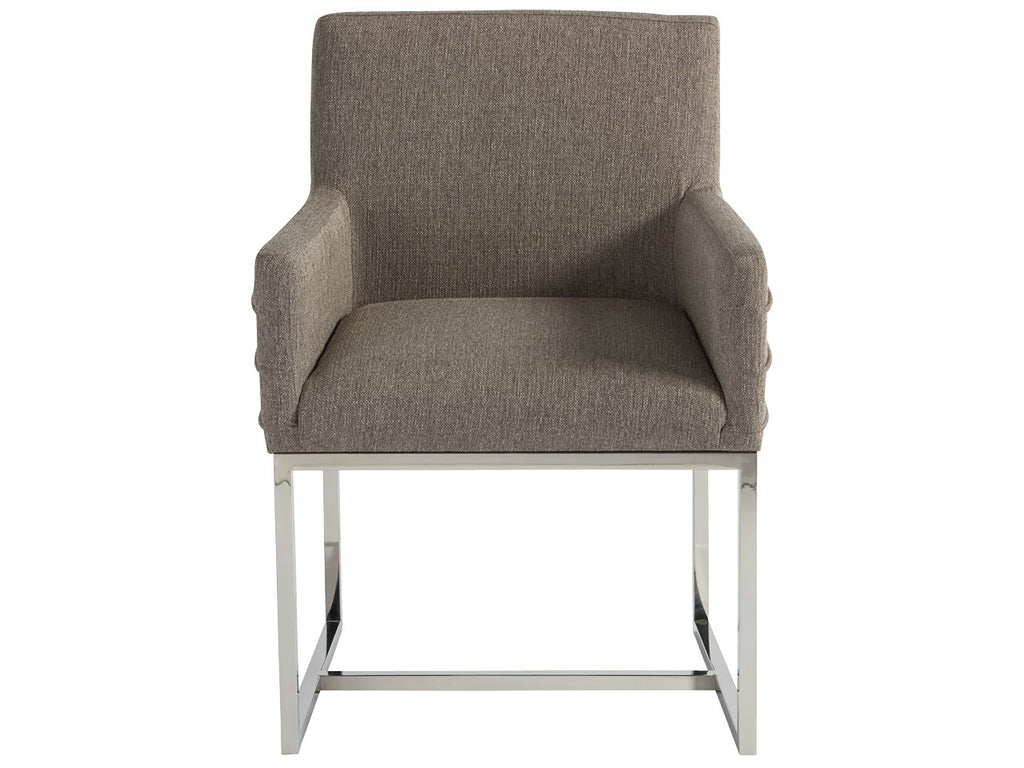 Zephyr Stainless Steel Arm Side Chair