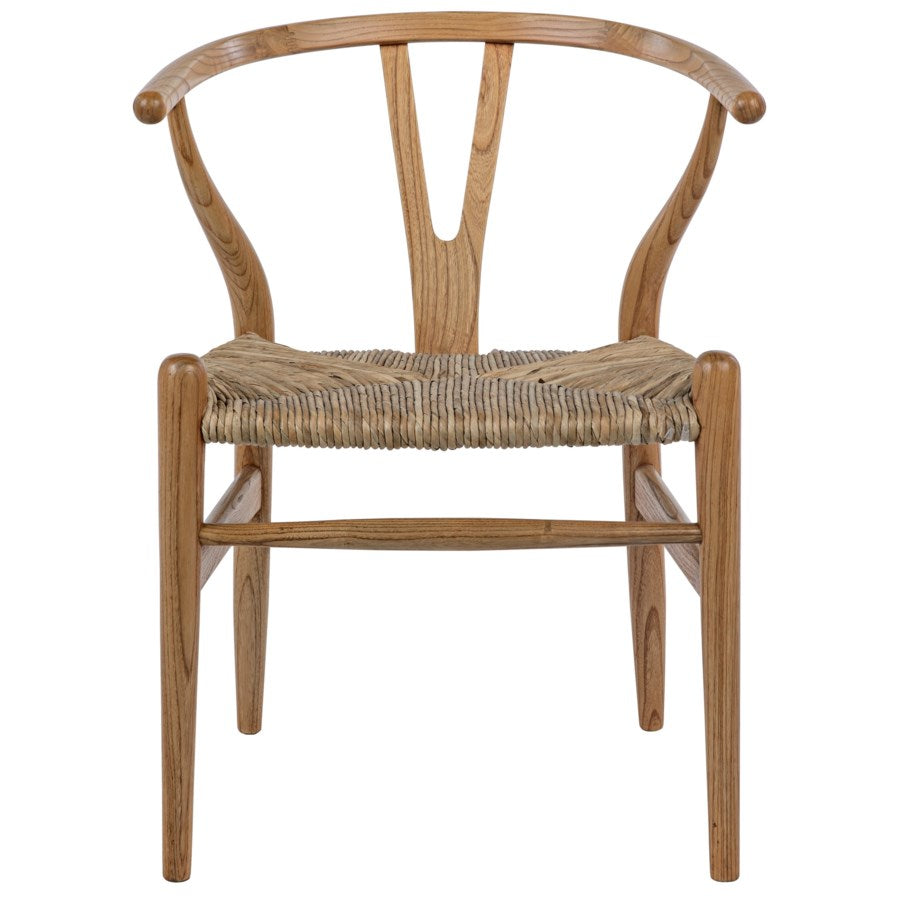 Zola Chair with Rush Seat,Natural