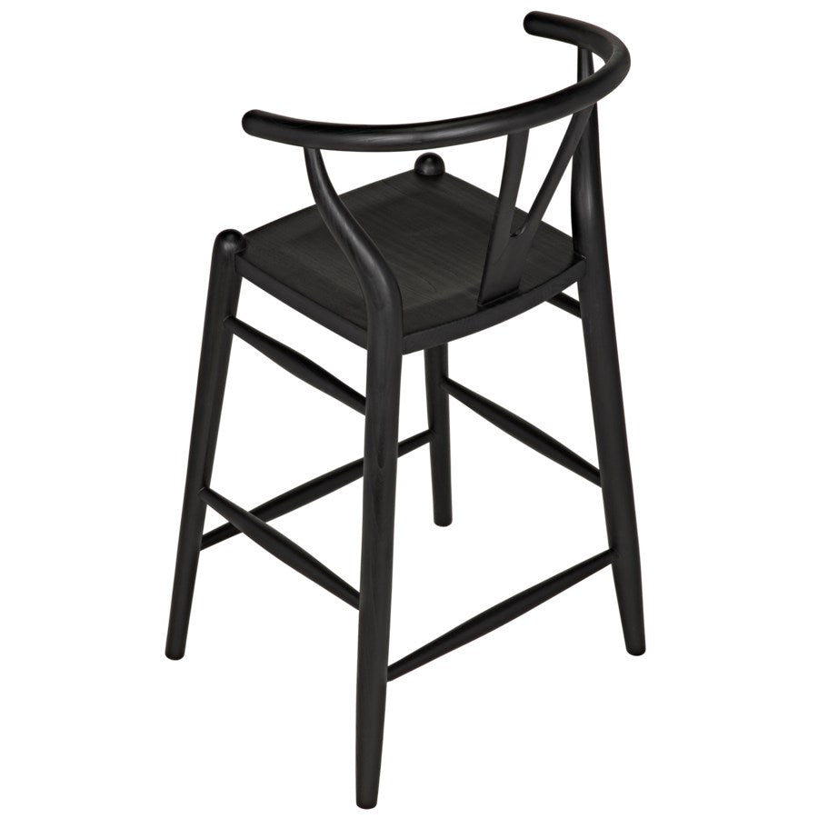 Zola Counter Stool,Charcoal Black