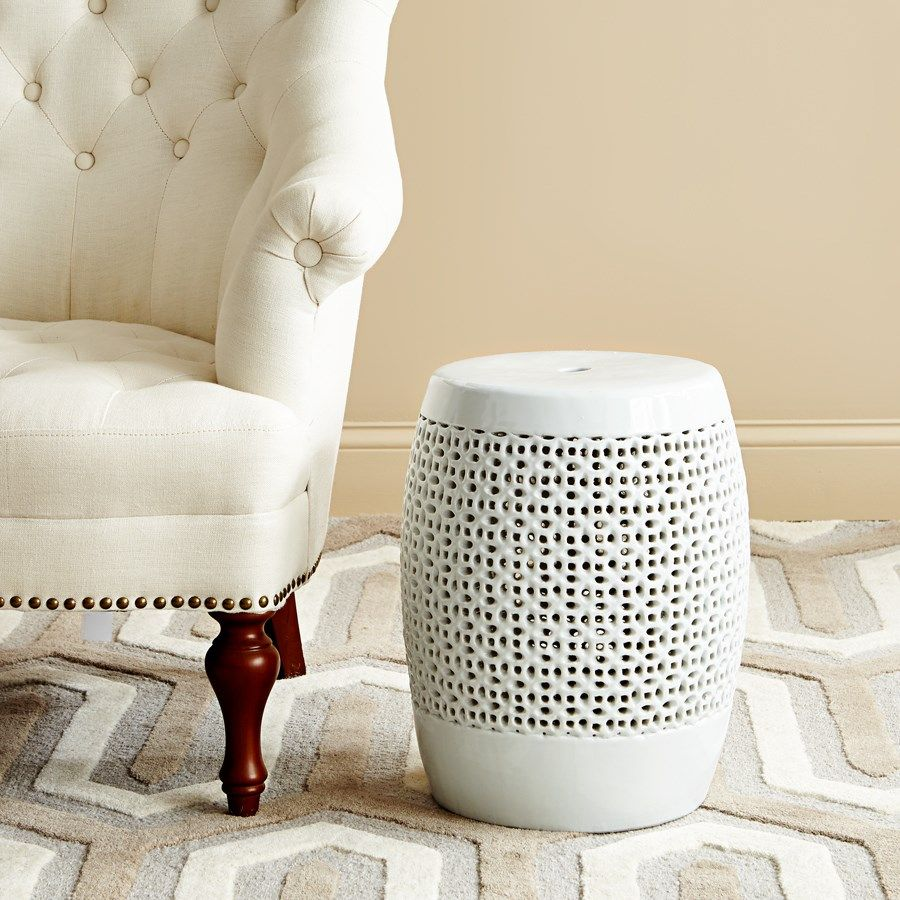 CHANTILLY STOOL, WHITE