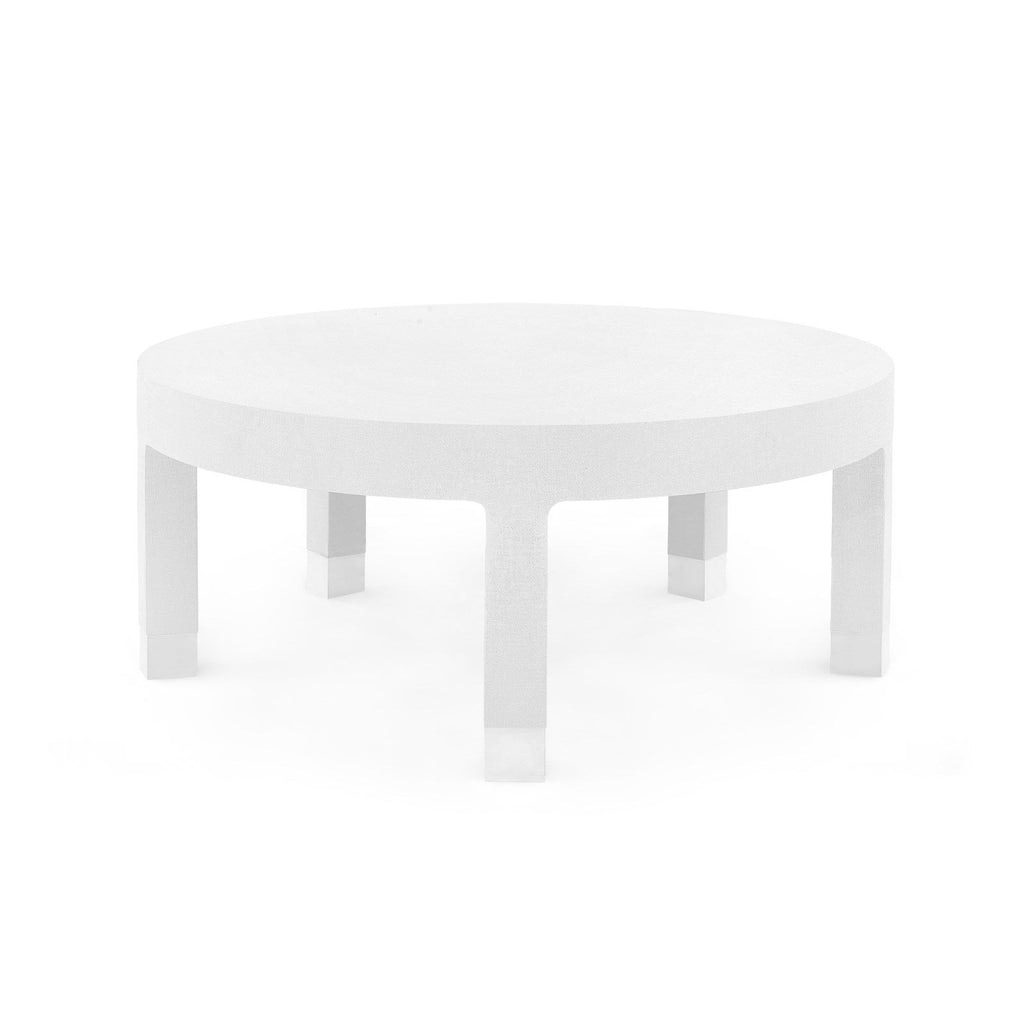 Dakota Round Coffee Table, White