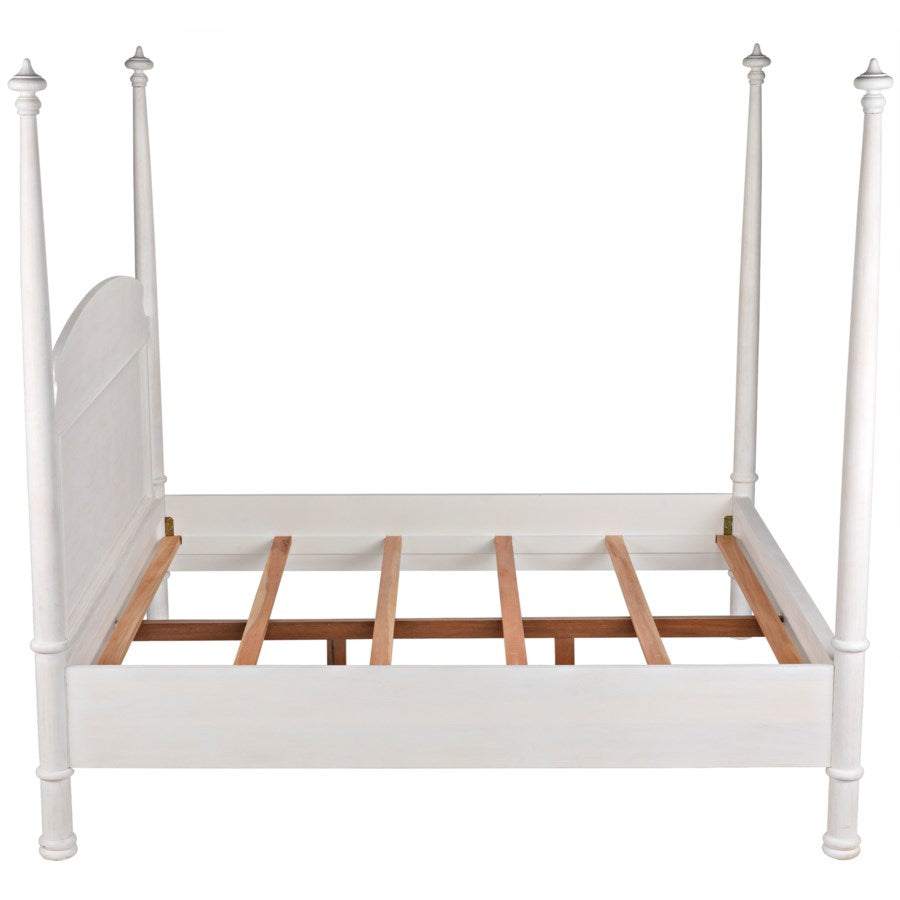 New Douglas Bed,Eastern King,White Washed