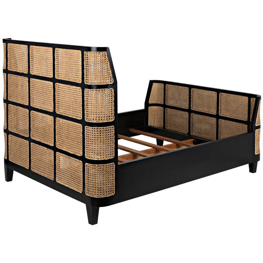 Porto Caned Bed, Queen