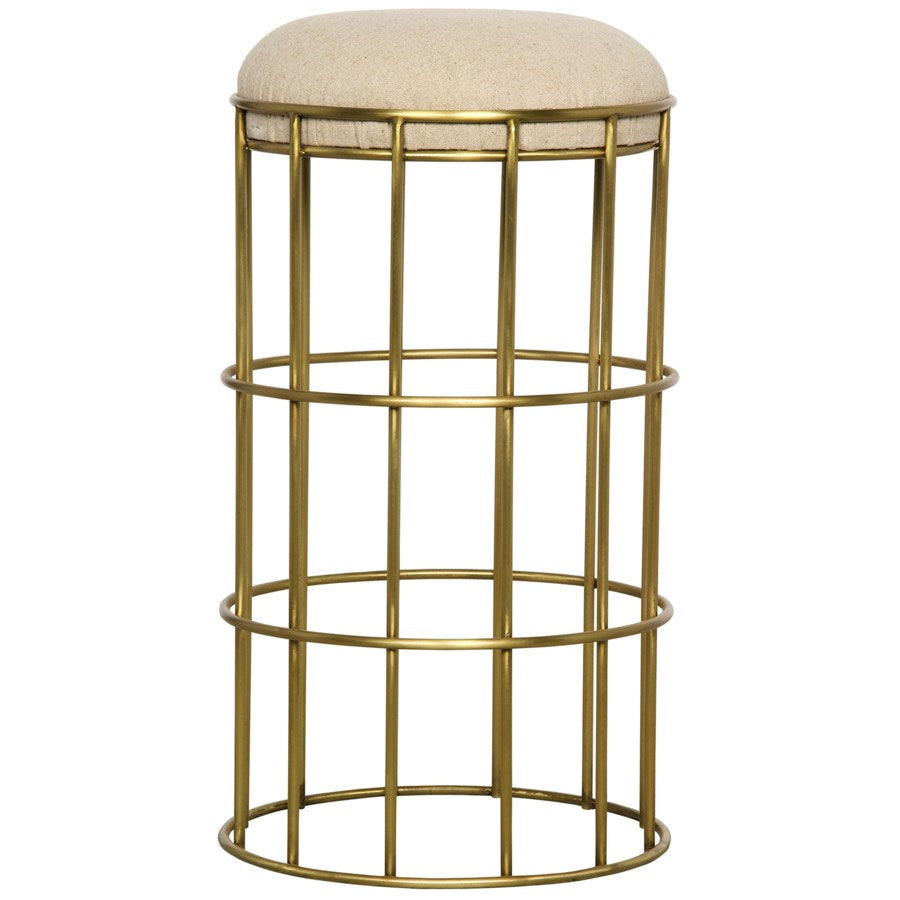 Ryley Counter Stool,Metal with Brass Finish