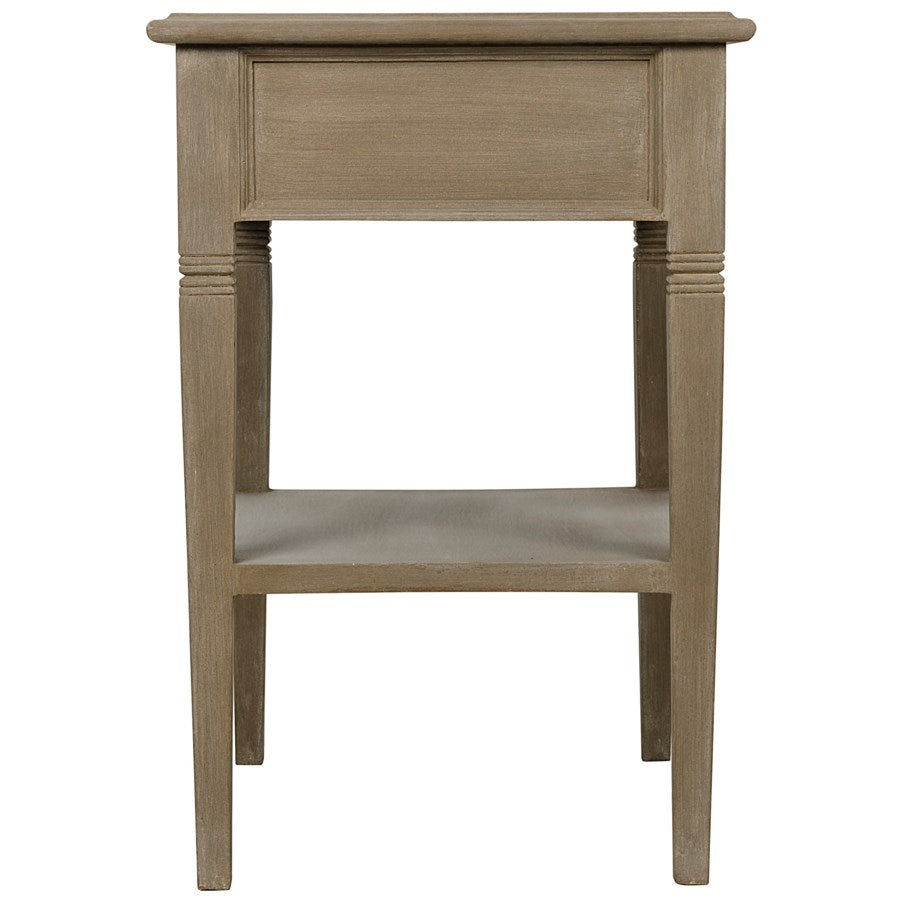 Oxford 1-Drawer Side Table,Weathered