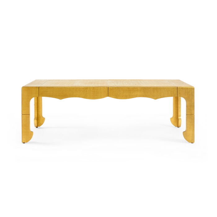 Jaques Coffee Table, Antique Brass