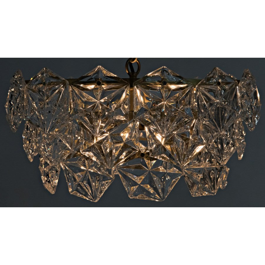 Neive Chandelier,Small,Antique Brass