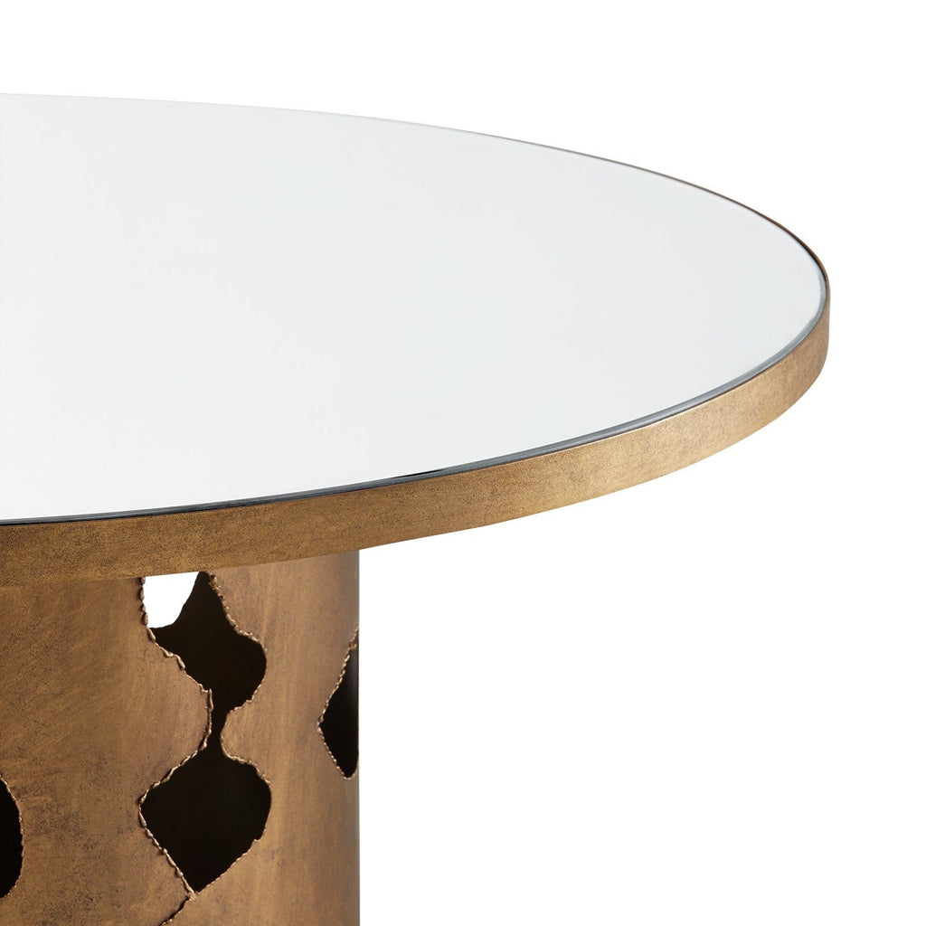MATISSE CENTER/DINING TABLE, CHAMPAGNE GOLD