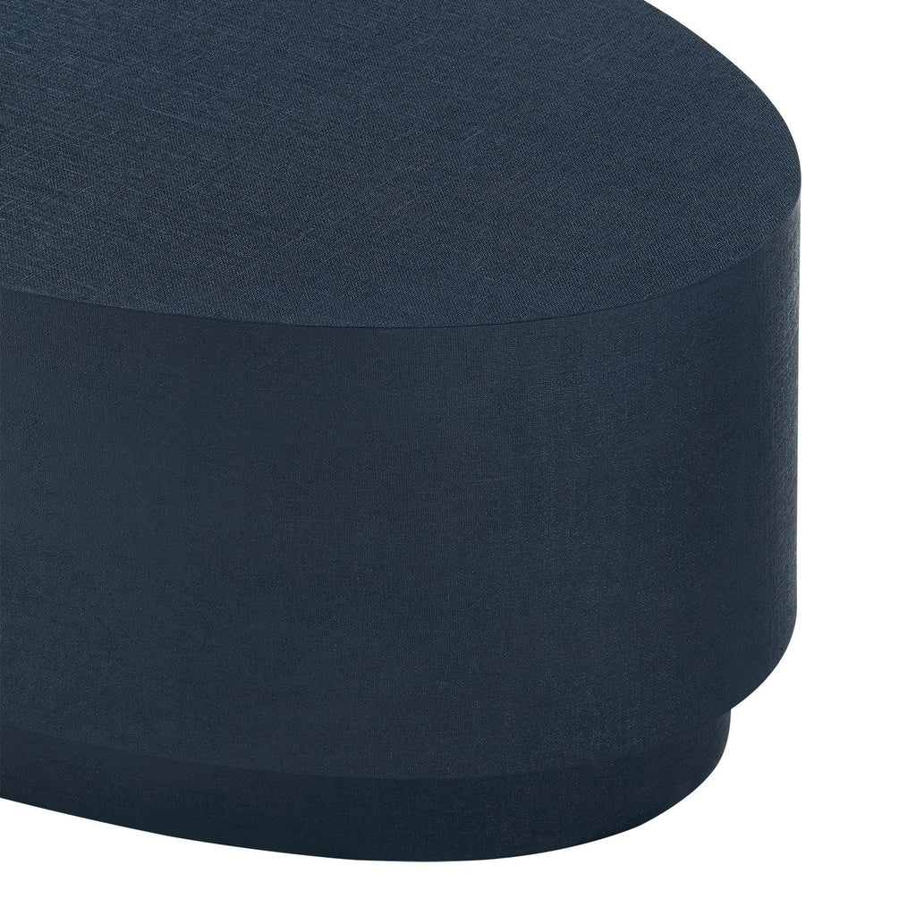 Mila Oval Coffee Table,  Navy