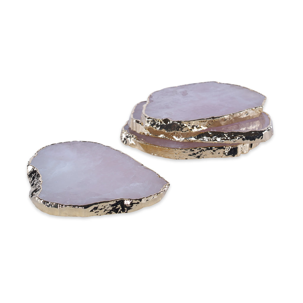 Aitana Rose Quartz Coasters, Set Of 4