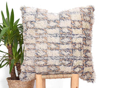 Load image into Gallery viewer, Beni Ouarain Pillow, Vintage Moroccan Berber Cushion