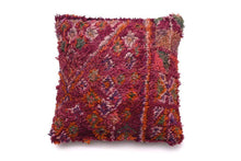 Load image into Gallery viewer, Berber Wool Pillow, Vintage Moroccan Cushion