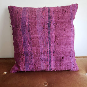 Berber Wool Pillow - Vintage Moroccan Floor Cushion VKFP041