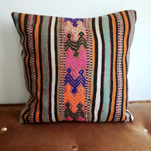 Load image into Gallery viewer, Berber Wool Pillow - Vintage Moroccan Floor Cushion VKFP047