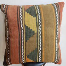 Load image into Gallery viewer, Berber Wool Pillow - Vintage Moroccan Floor Cushion VKFP068