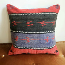 Load image into Gallery viewer, Berber Wool Pillow - Vintage Moroccan Floor Cushion VKFP069