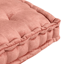 Load image into Gallery viewer, Coral Velvet Tufted Floor Cushion