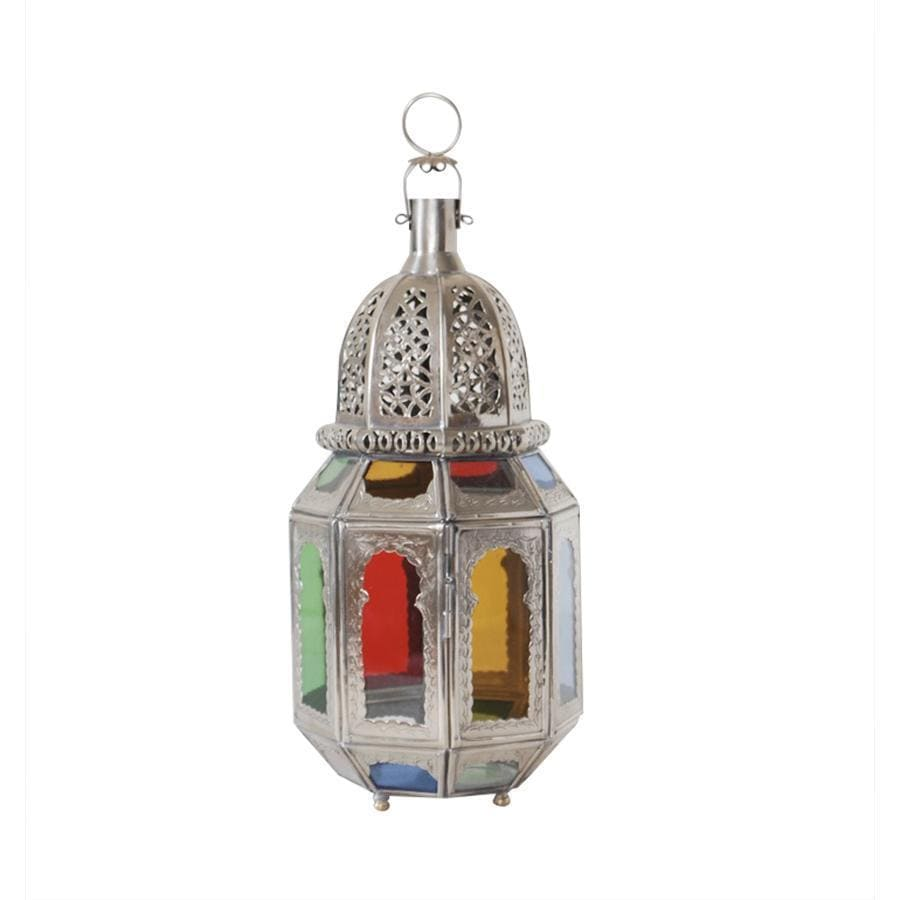 Medium Moroccan Lantern colored