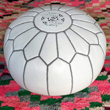 Load image into Gallery viewer, Moroccan Pouf Rental - White
