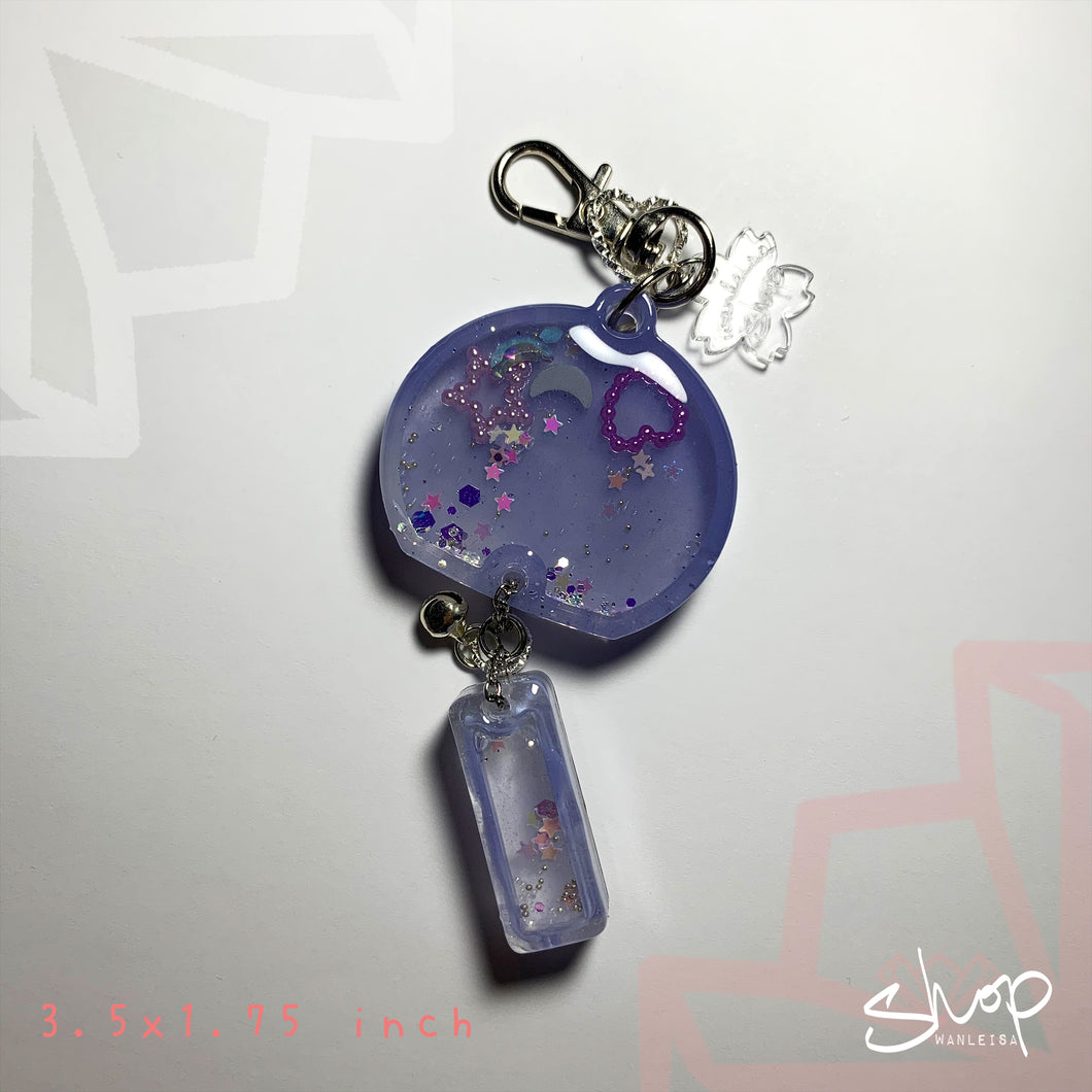 Purple Star/ Heart Medium Furin Shaker