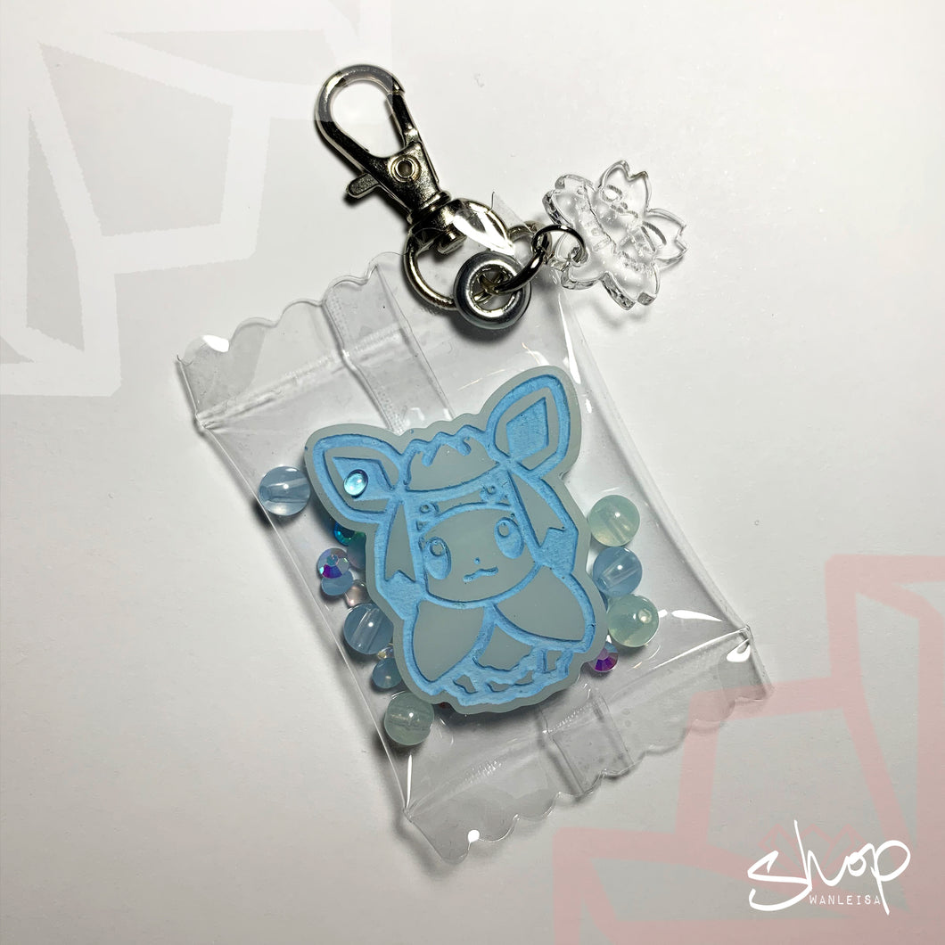 Eevee Candies Keychain : Glaceon