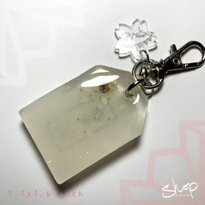 "White Strawflower ""Success"" Medium Omamori"