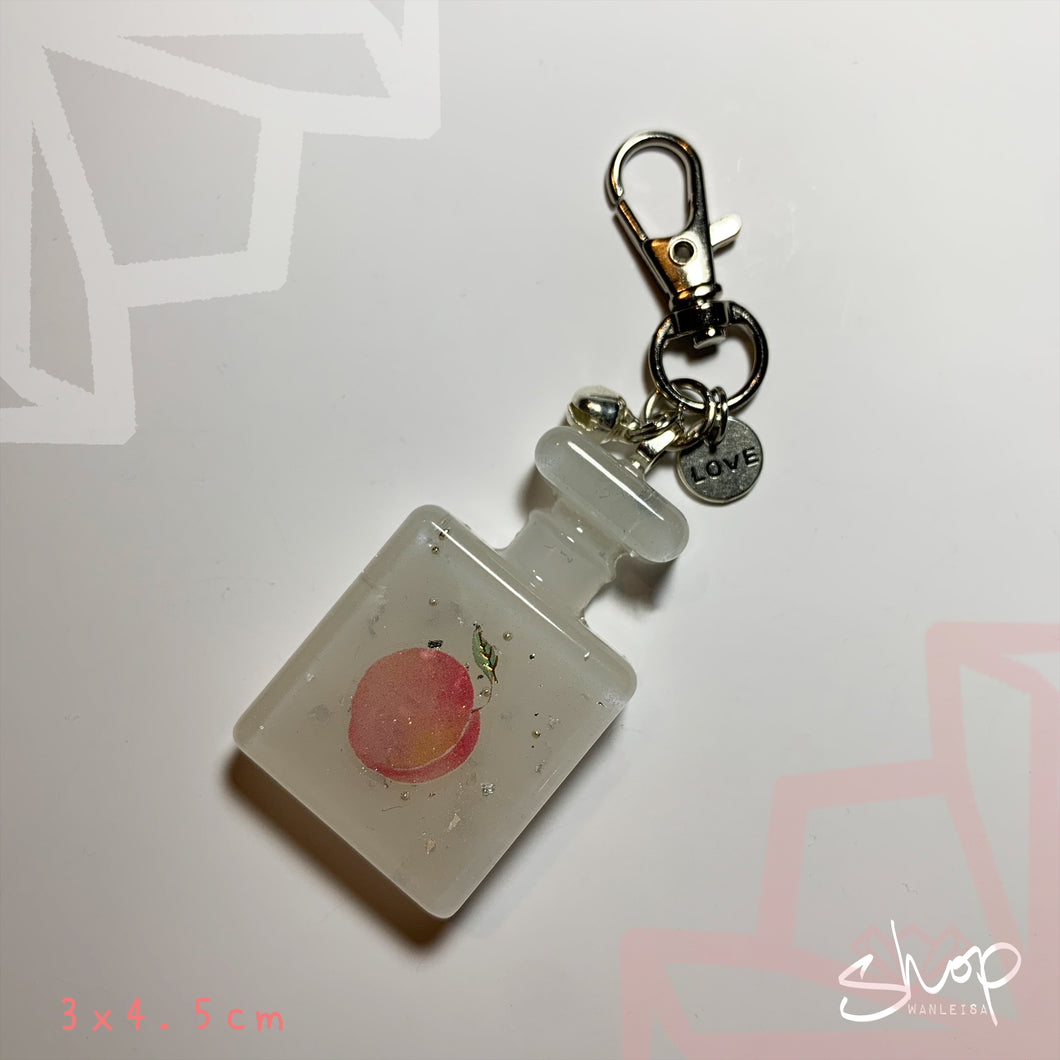 Peach Perfume Keychain Big