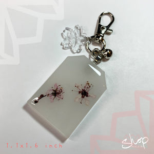 Medium Embedded Flower Charm